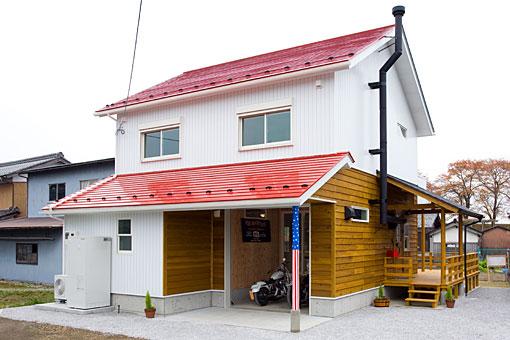 若い大工さんが建てたガレージハウス